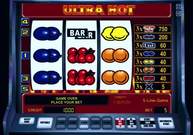 Мобильная версия игровых автоматов Ultra Hot